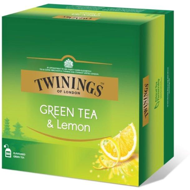Grønn Te Sitron Twinings, 100pos