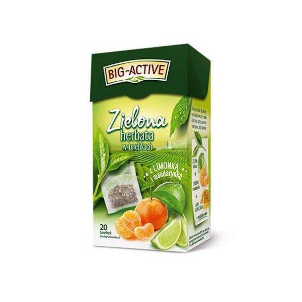 Grønn Te med Lime og Mandarin Big-Active, 40g (20x2g)