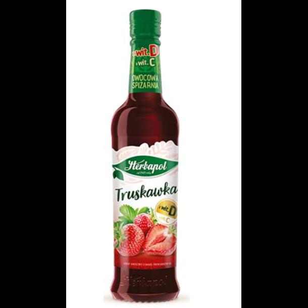 Herbapol Jordebær sirup, 420ml