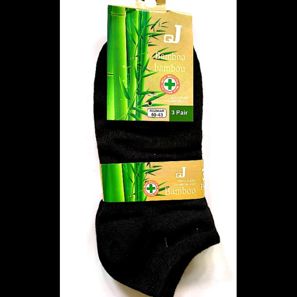 Bamboo Herresokker, svarte, 3 pack