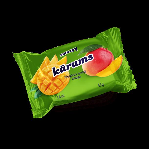 KARUMS Glasert Ostemasse med Mango, 45g