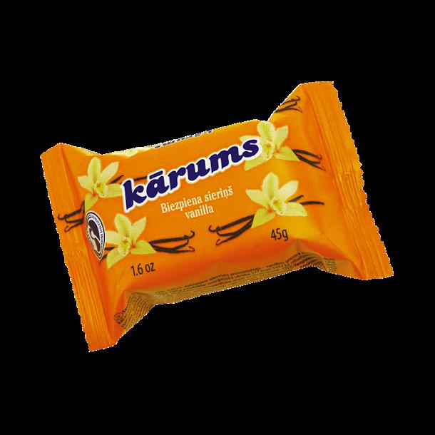 KARUMS Glasert Ostemasse med vanilje smak, 45g