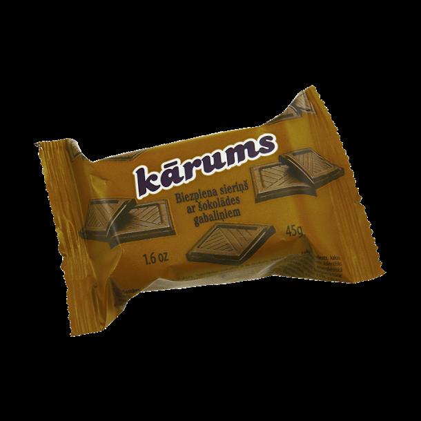 KARUMS Glasert Ostemasse med sjokoladebiter, 45g