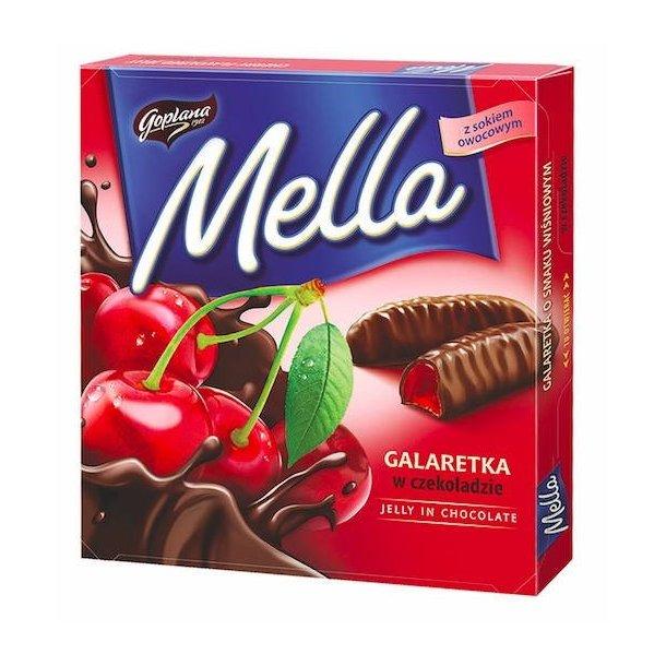 Kirsebærgelé i sjokolade Mella, 190g