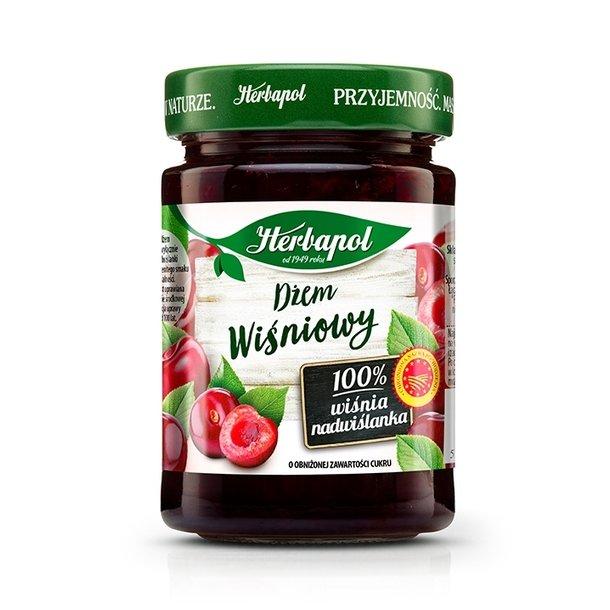 Kirsebærsyltetøy uten konserveringsmiddel Herbapol, 280g