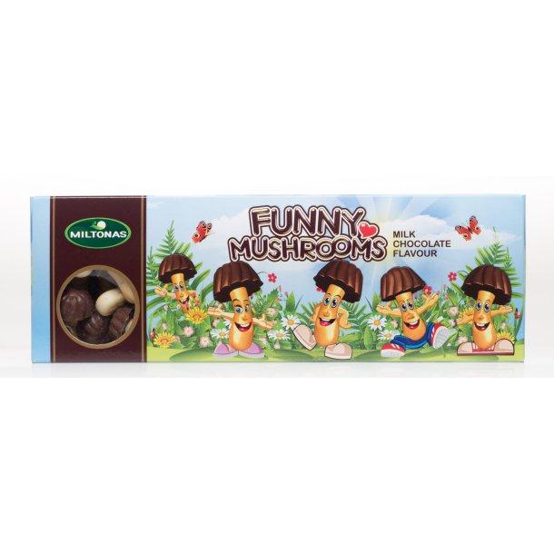 """Miltonas kjeks """"Fanny mashrooms"""" med melke sjokolade, 175g"""