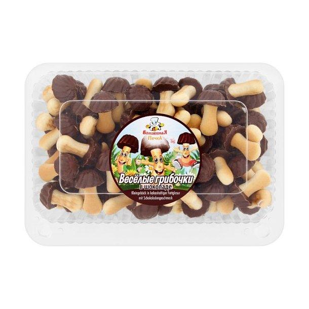 Kjeks Morsomme Sopp med sjokoladesmak, 250g
