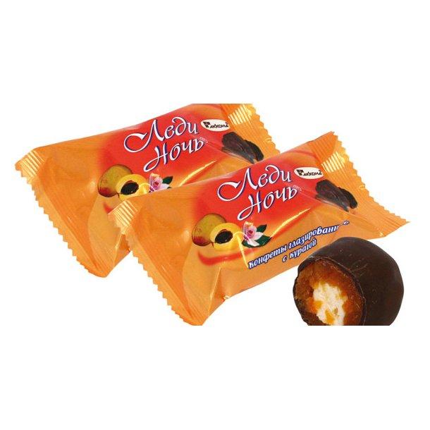 Konfekter med tørkede aprikoser Lady Night, 500g