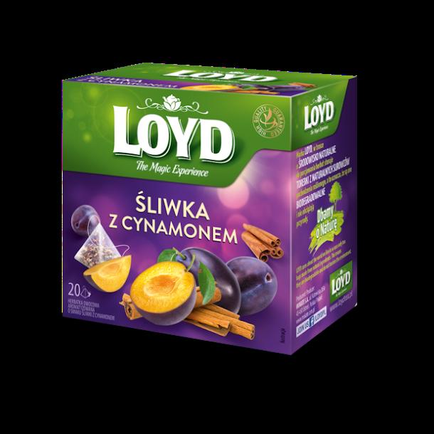 Te med Plomme og Kanel LOYD, 20 puser x 1,5g