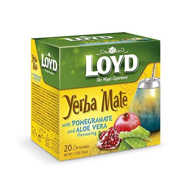 Yerba Mate Te med Granateple og Aloe Vera  LOYD, 20 puser x 1,5g