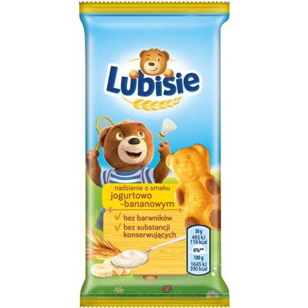 Svampekake Lubisie med yoghurt - bananfylling, 30g