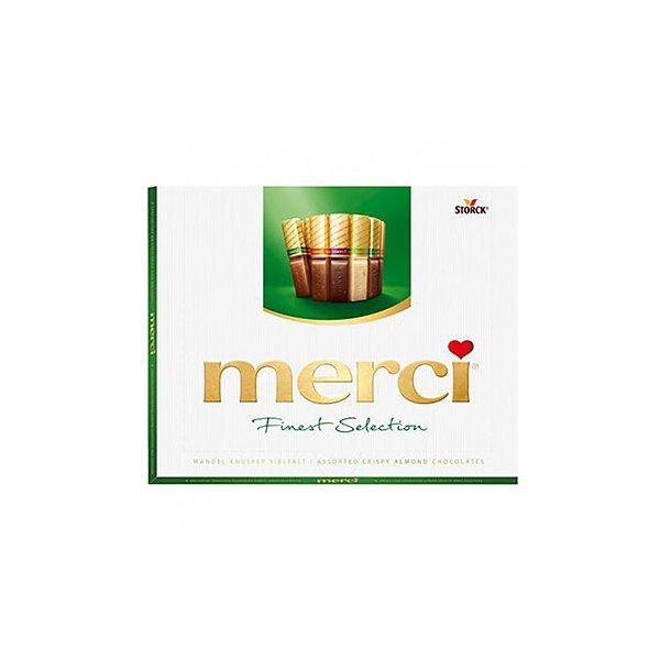 MERCI Sjøkolade Konfekter Crispy Almond, 250g