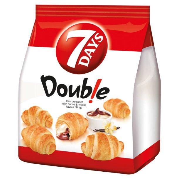 7 days Mini Croissant med kakao og vanilje smak, 180 g