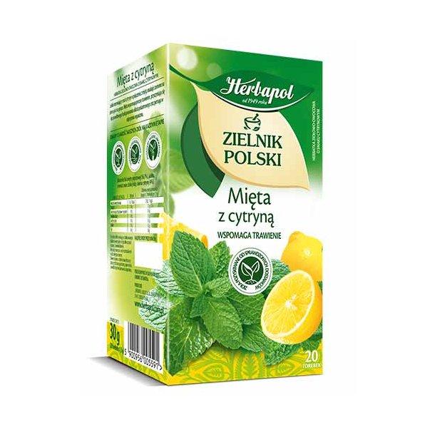 Te Mint med sitron Herbapol, 30g (20 x 1,5g)