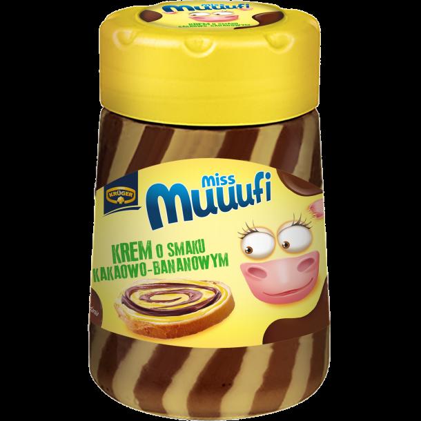 Pålegg med banan- og kakaosmak Miss Muuufi, 400g