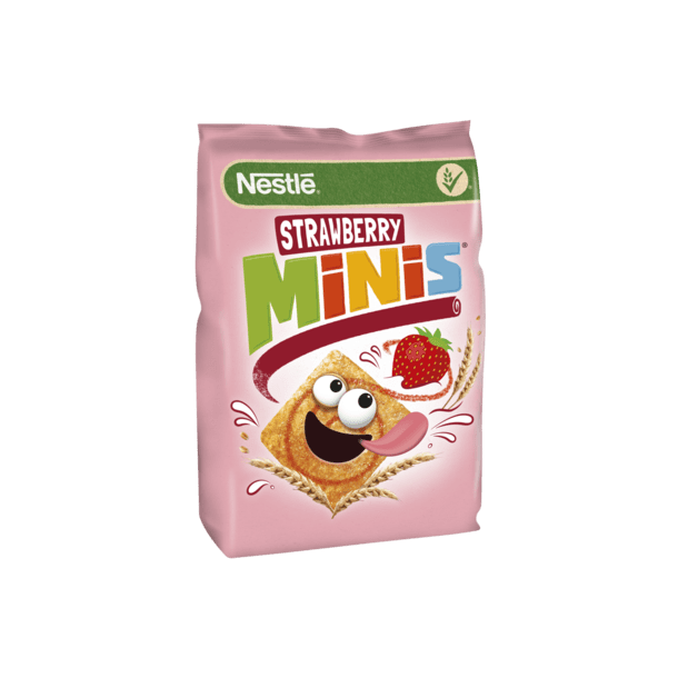 STRAWBERRY MINIS Frokostblanding NESTLE, 250g