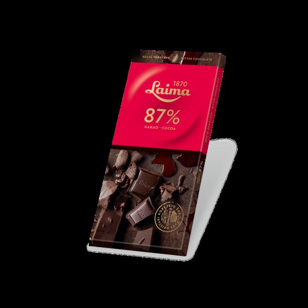 LAIMA ekstra mørk sjokolade 87%, 100g