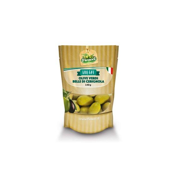 Grønne Store Cerignola Oliven, 140g