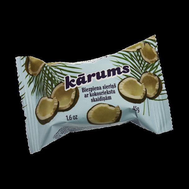 KARUMS Glasert Ostemasse med kokos, 45g