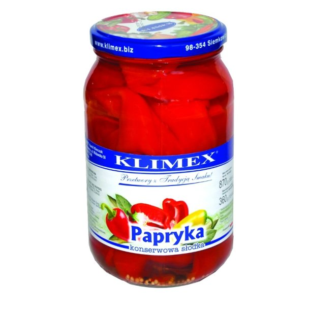 Paprika konservert Klimex, 850g