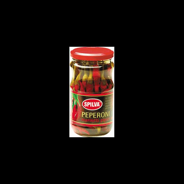Marinert Rød Chili Pepper Spilva, 330g