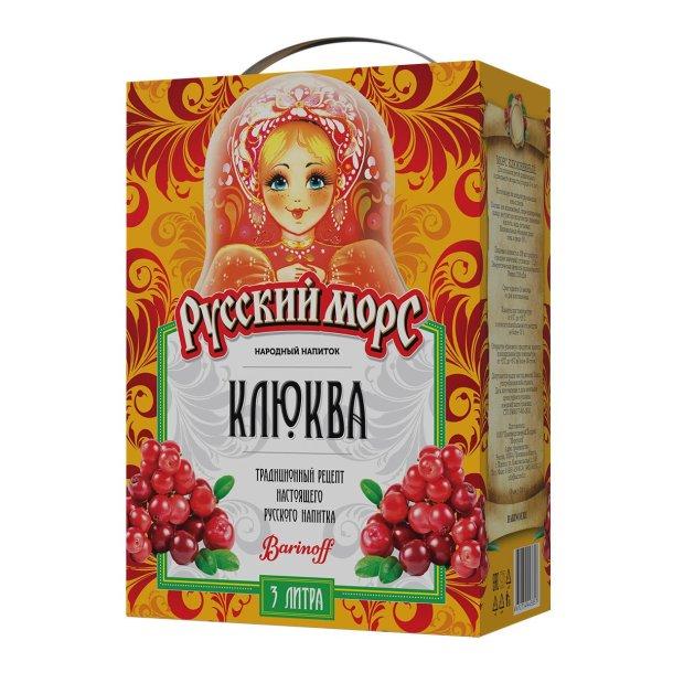 Russisk Drikke Mors -Tranebær, 3l