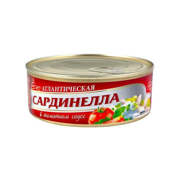 Sardinella i tomatsaus SibFisch, 240g