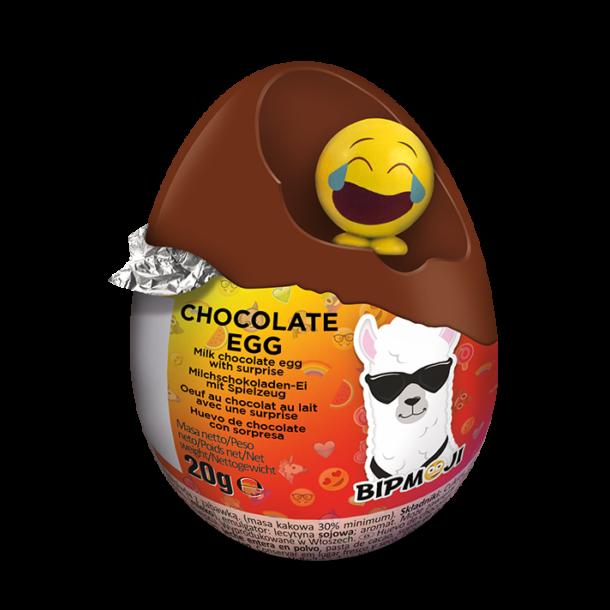 Sjokoladeegg BIPMoji med Overraskelse, 20g