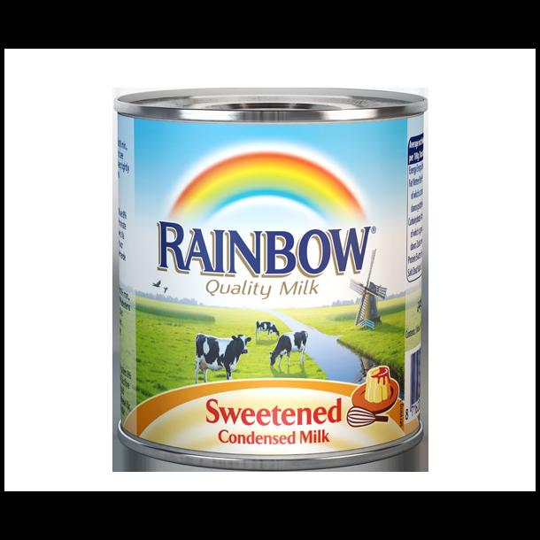Søt Kondensert melk Rainbow, 397g