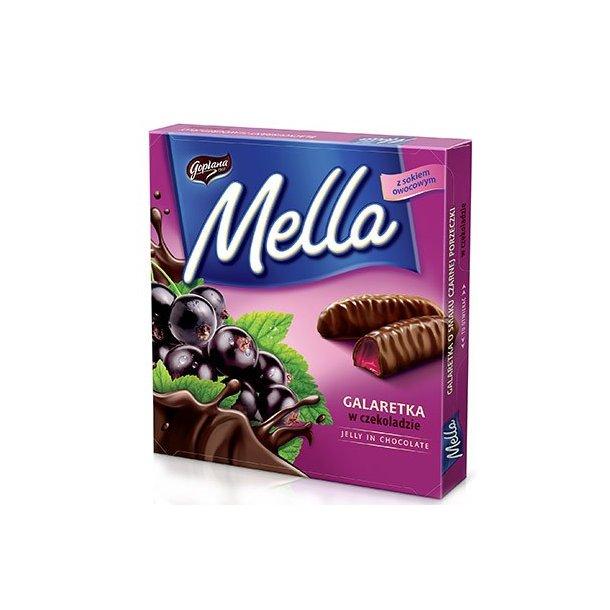 Solbærgelé i sjokolade Mella, 190g