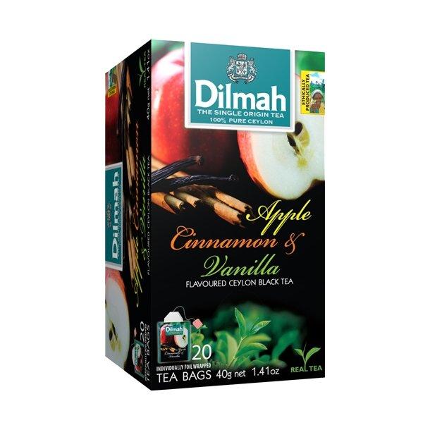 Svart Ceylon Te Epple, Vanil & Kanel DILMAH, 30g (20x1,5g)