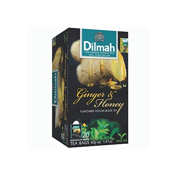 Svart Ceylon Te Ingefær & Honning  DILMAH, 30g (20x1,5g)