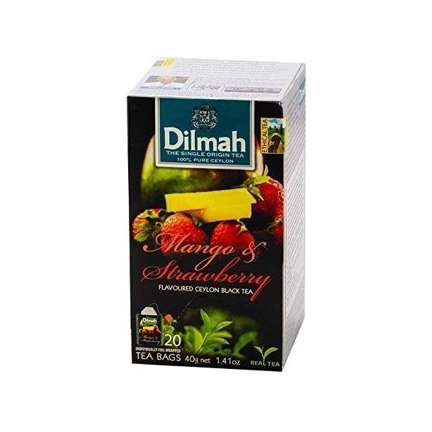 Svart Ceylon Te Mango & Jordbær DILMAH, 30g (20x1,5g)