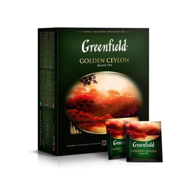 Golden Ceylon Greenfield Svart Te, 100 puser x 2g
