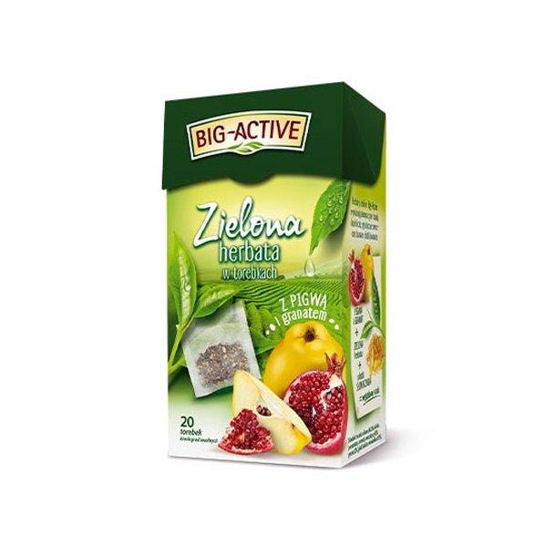Grønn Te med Kvede og Granateple  Big-Active, 40g (20x2g)