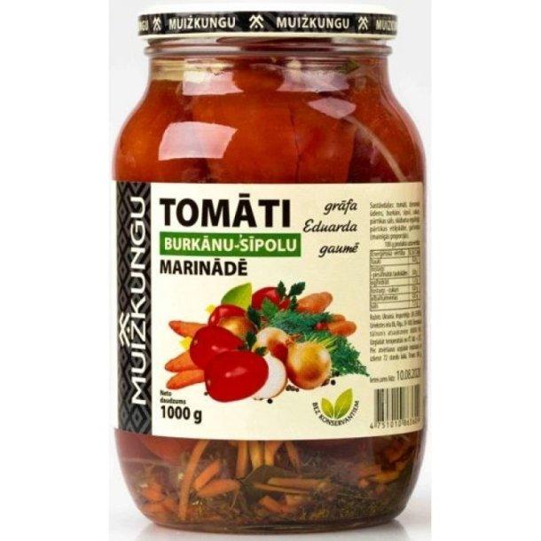 Tomater i gulrotløksmarinade , 1000g