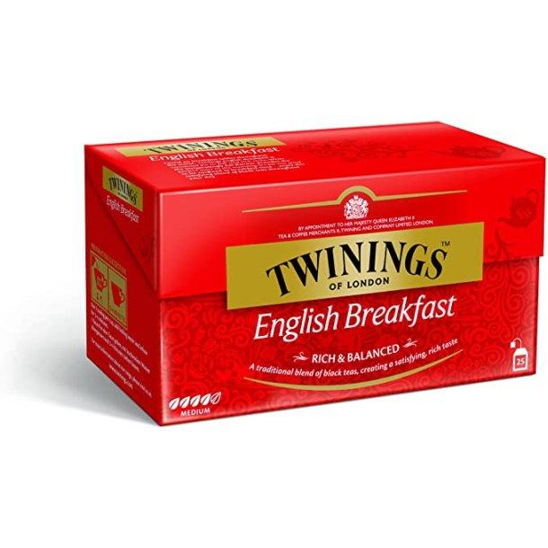 English Breakfast Te Twinings, 25 pos