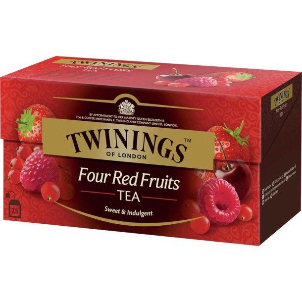 Fire Røde Frukter Te Twinings, 25 pos