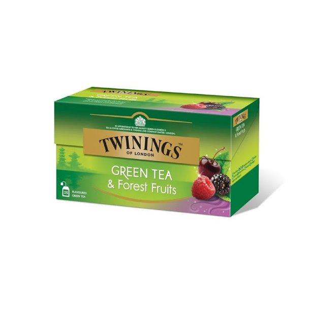 Skogsbær Grønn Te Twinings, 25 pos