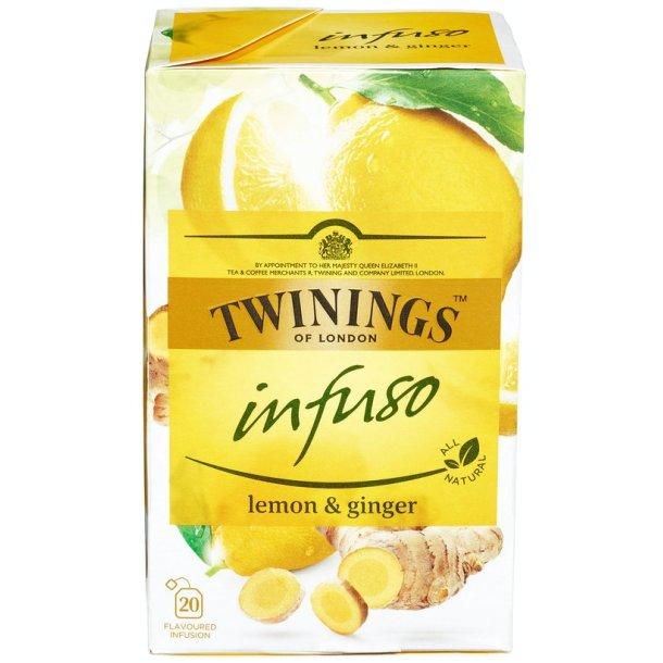 Lemon & Ginger Infuso Te Twinings, 20 pos