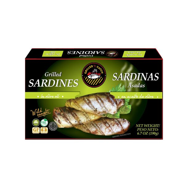 Grillede sardiner i olivenolje, 190g